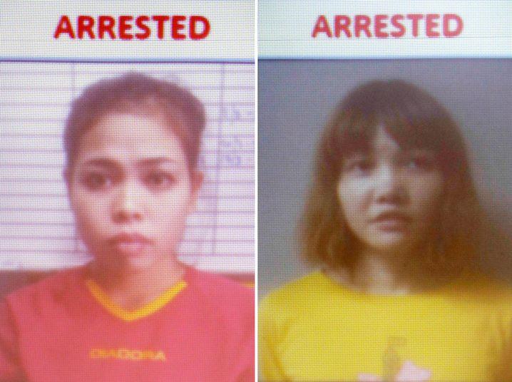Polizeiaufnahmen von Siti Aishah und Doan Thi Huong
