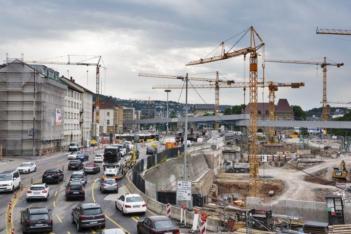 Stuttgart-21-Baustelle an der B14: Autogerecht ist heute ein Schimpfwort