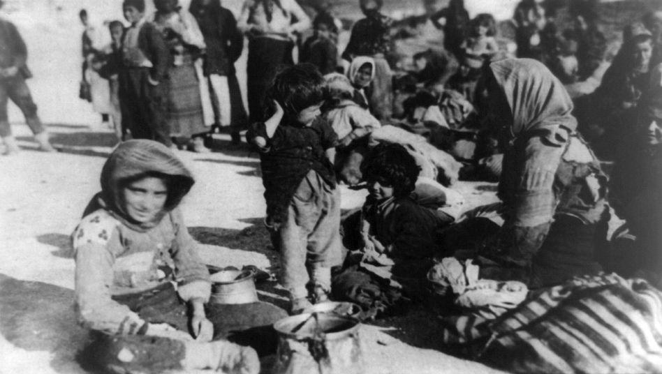 Armenischer Flüchtlinge aus dem osmanischen Reich (1915 in Syrien)