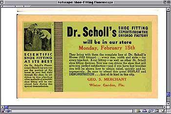 """Werbung für ein """"fahrendes Fluoroskop"""""""