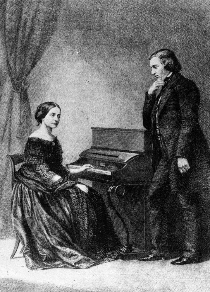 Robert Schumann und Clara Schumann