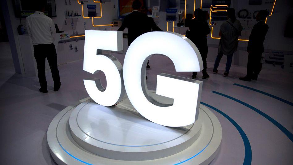 5G-Logo auf Tech-Messe