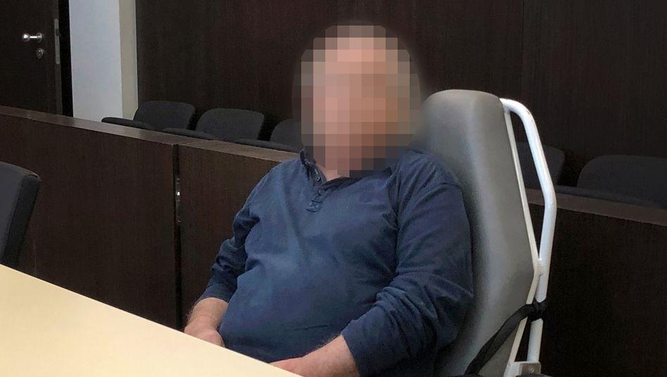 Angeklagter im Düsseldorfer Landgericht