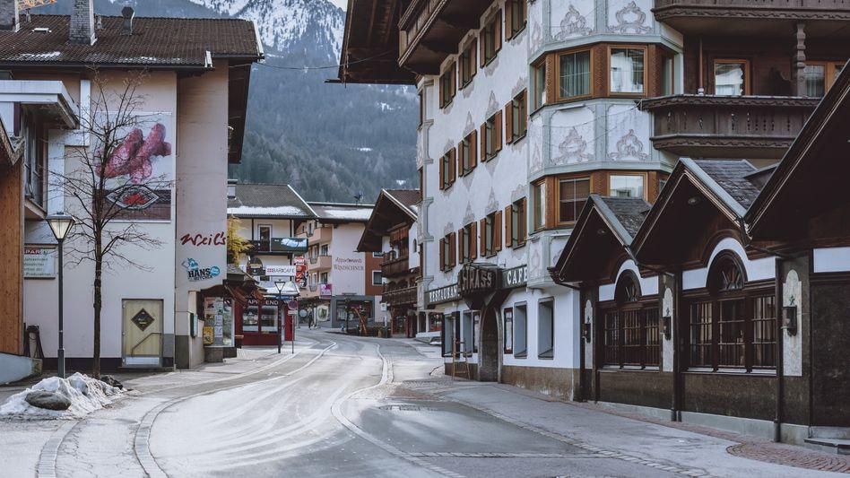 Leere Straßen in Mayrhofen in Tirol