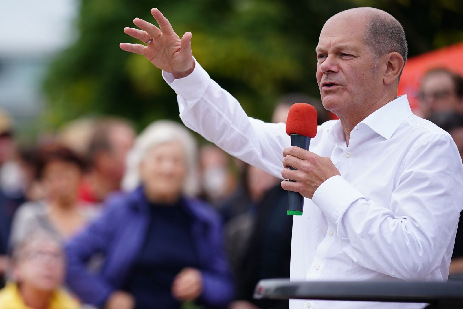 Brandenburg regional SPD campaign closing event with top candidate Olaf Scholz