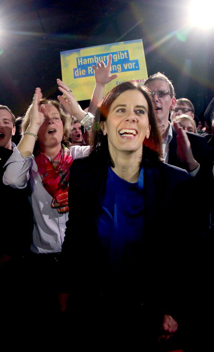 Jubelnd: FDP-Spitzenkandidatin Katja Suding