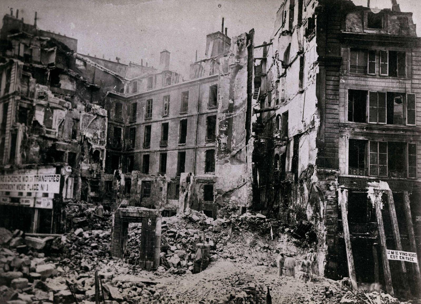 The Paris Commune the destroyed Latin Quarter The Paris Commune the destroyed Latin Quarter the C
