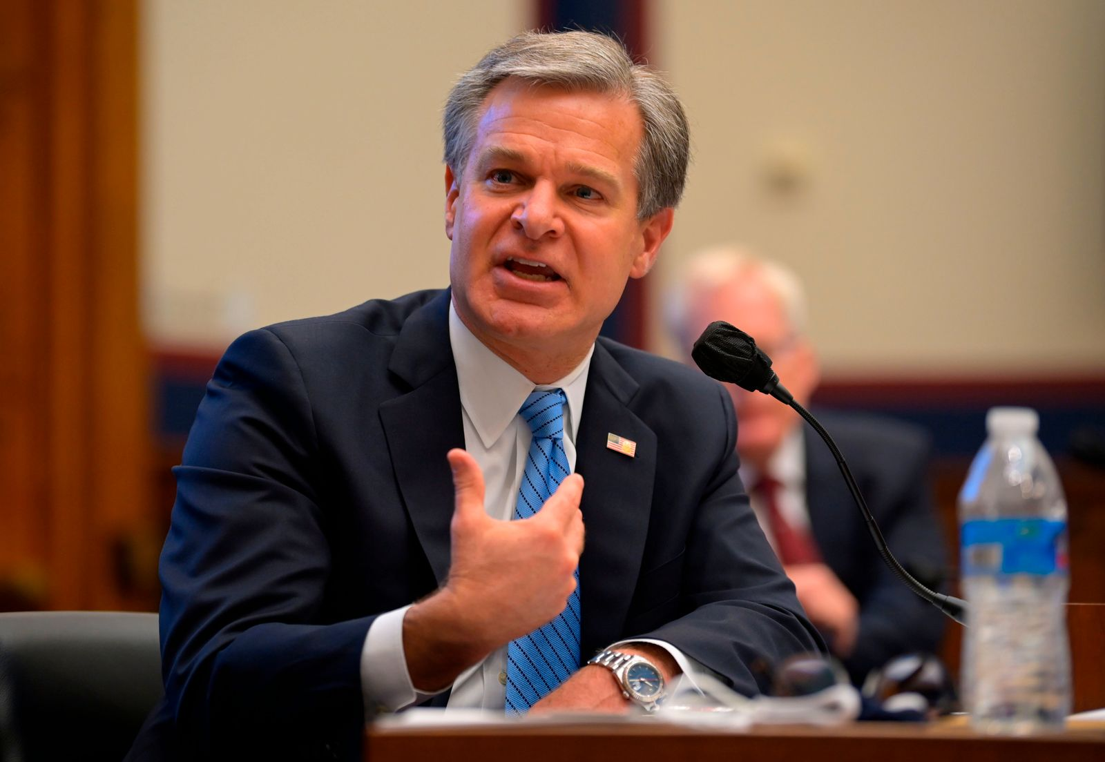 FBI head Wray, homeland security chief Wolf grilled by Congress