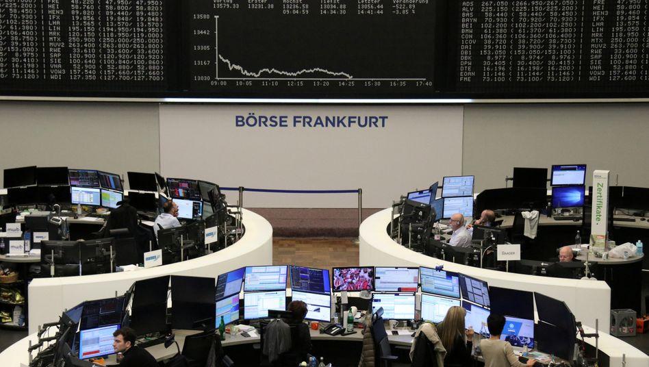 Die Frankfurter Börse (Archivbild): Sichere Häfen gesucht.