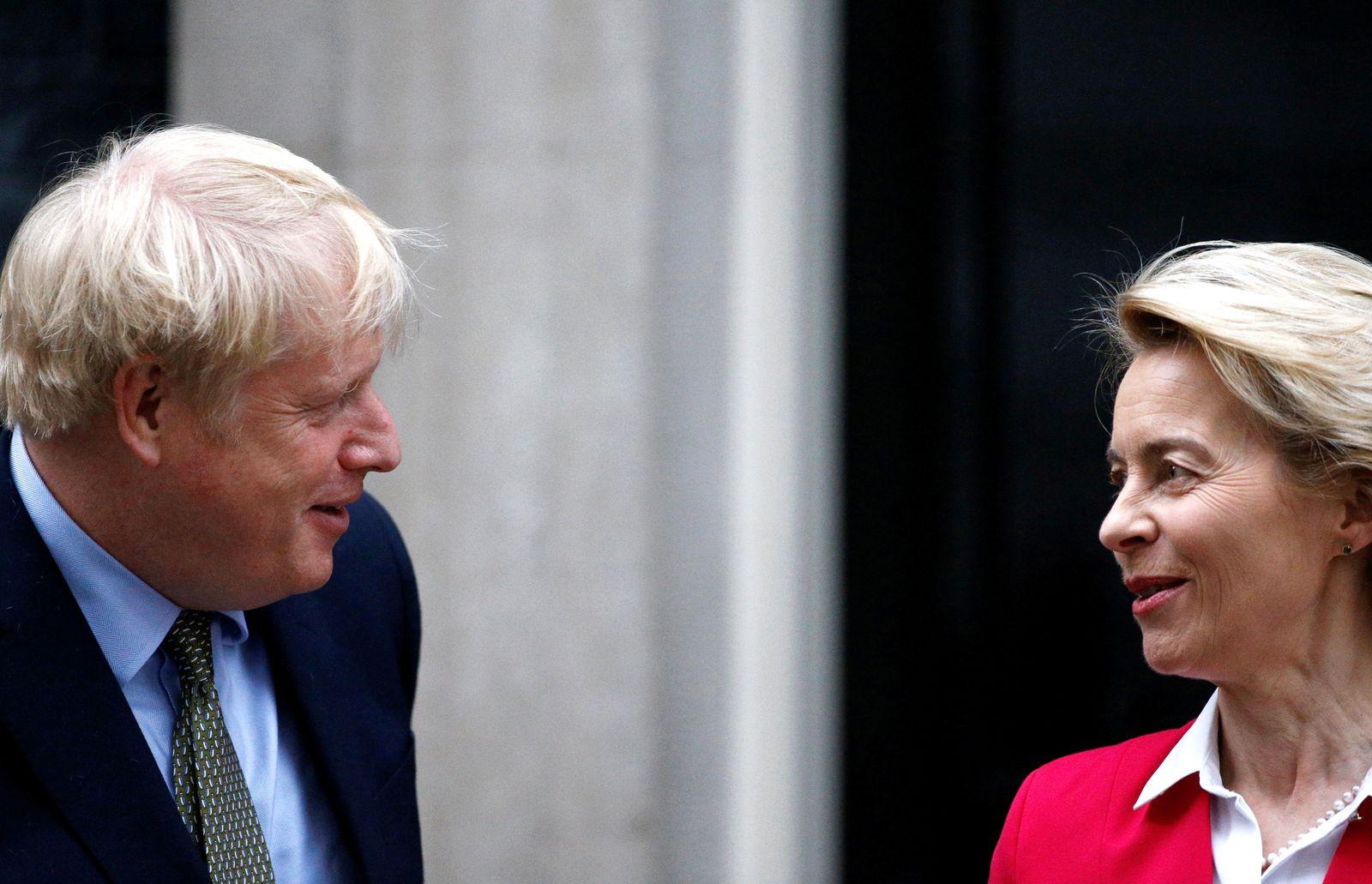 Britain's PM Johnson meets European Commission President von der Leyen in London