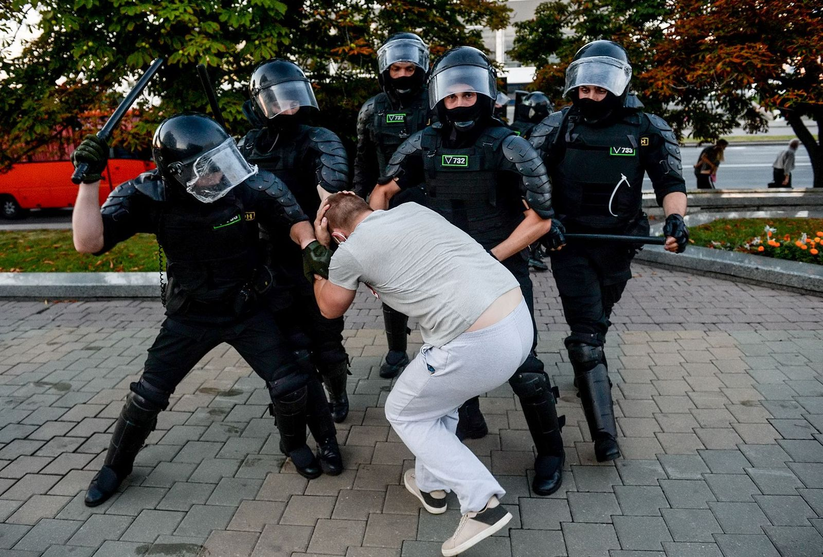 Presidential elections reactions in Belarus, Minsk - 10 Aug 2020