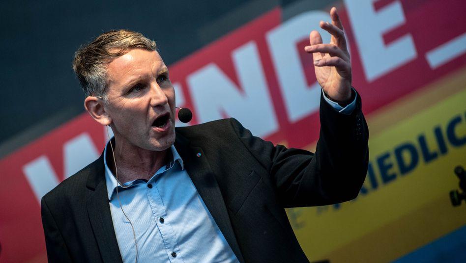 Björn Höcke im Thüringer Wahlkampf: Vorübergehend will er keine Interviews mehr geben