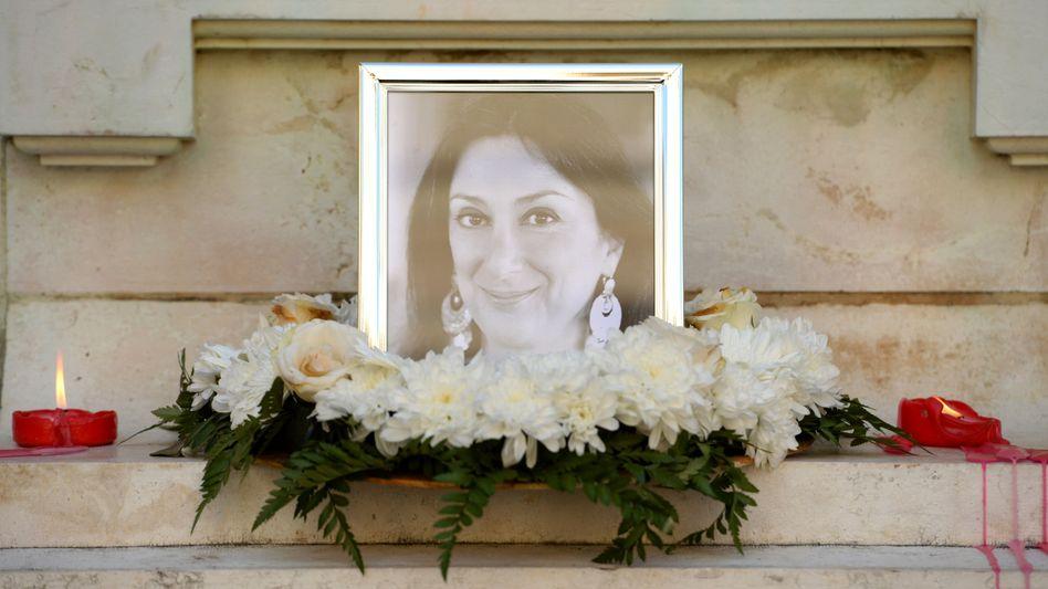 Gedenken an die Journalistin Daphne Caruana Galizia