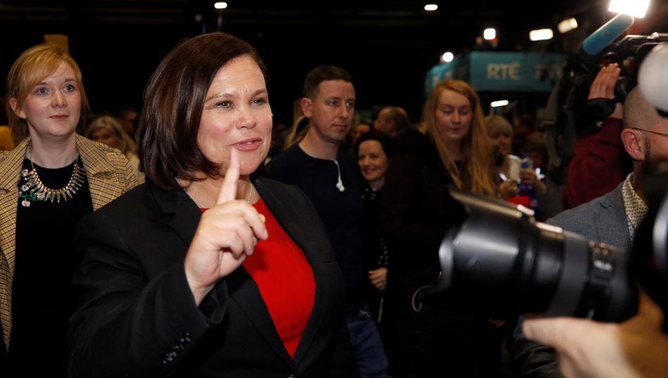 Sinn Féin-Chefin Mary Lou McDonald: Mit linkem Programm zum Wahlerfolg