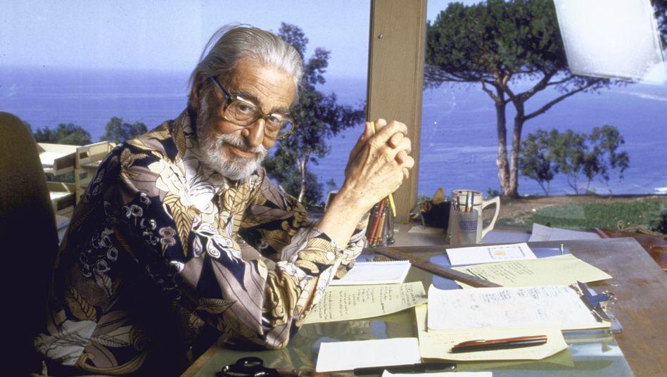 Theodor Seuss Geisel an seinem Arbeitsplatz in Kalifornien – er starb 1991