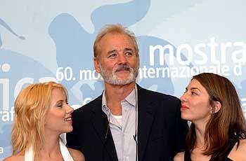 """""""Lost in Translation"""", Darsteller Johansson (l.), Murray, Regisseurin Coppola (im August 2003 in Venedig): """"Riesig überrascht"""""""