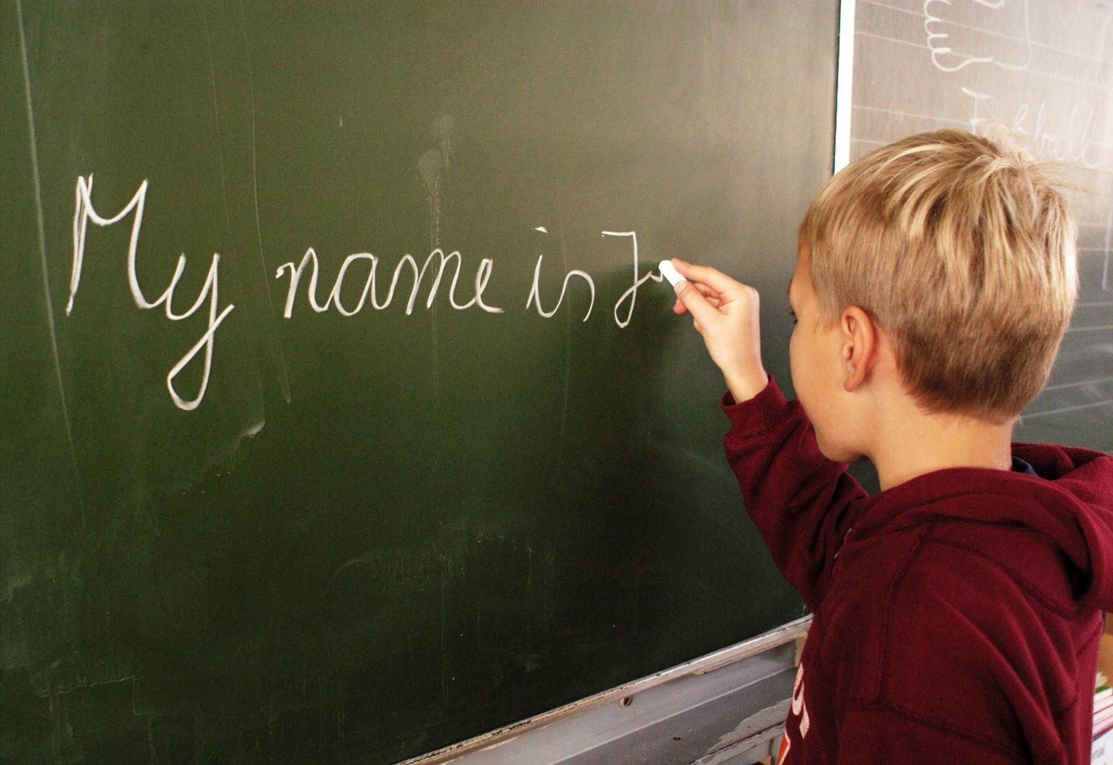 EINMALIGE VERWENDUNG Schule Englisch-Unterricht