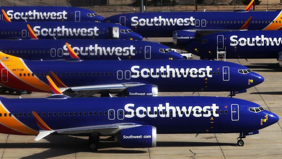 Flugzeuge des Typs Boeing 737 Max in Kalifornien: Stillstand am Boden