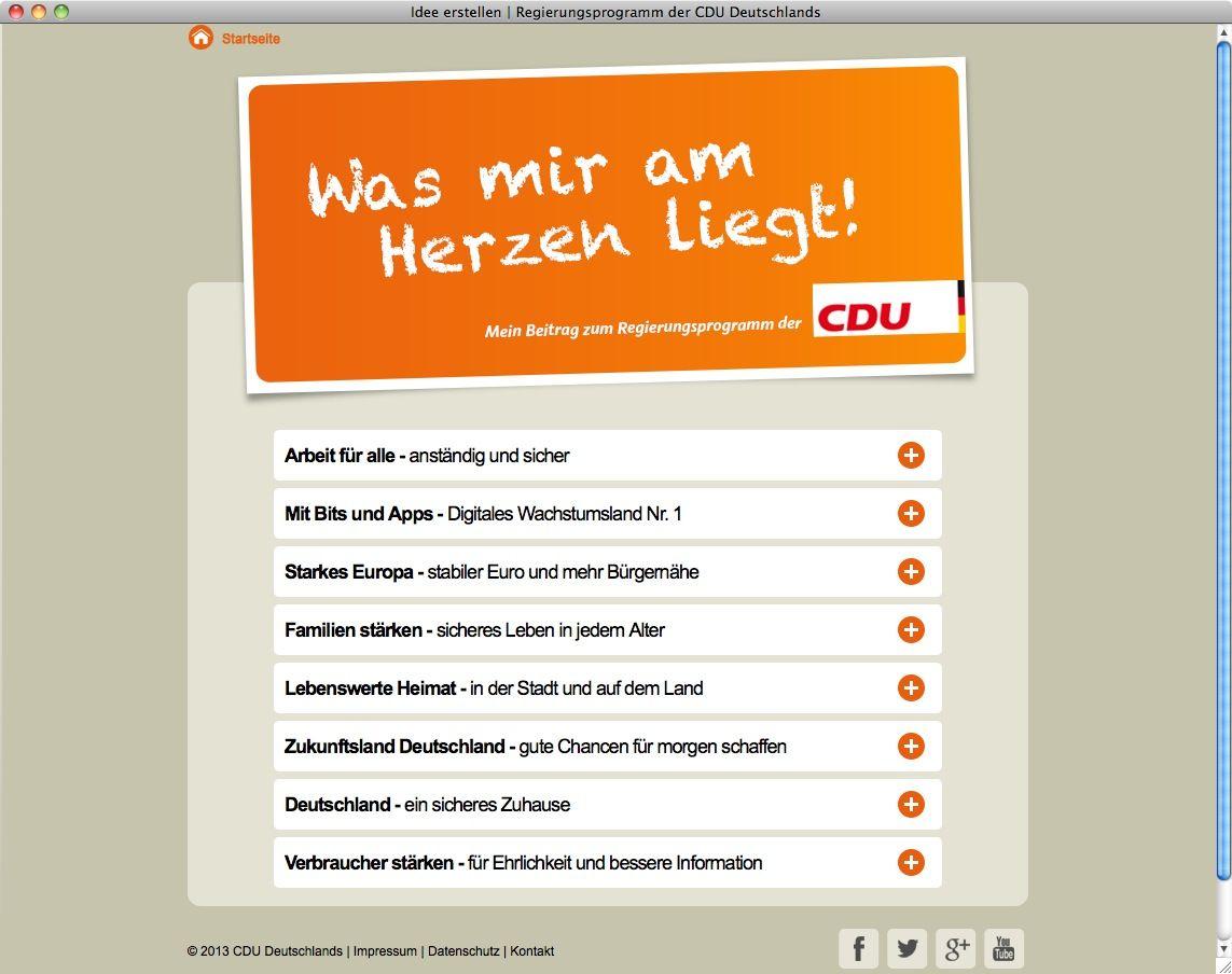 NUR ALS ZITAT Screenshot CDU/ Was mir am Herzen liegt