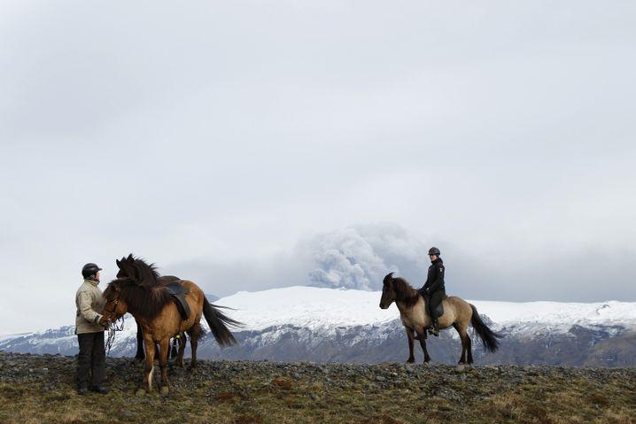 Reiterinnen auf Island (Archivbild)