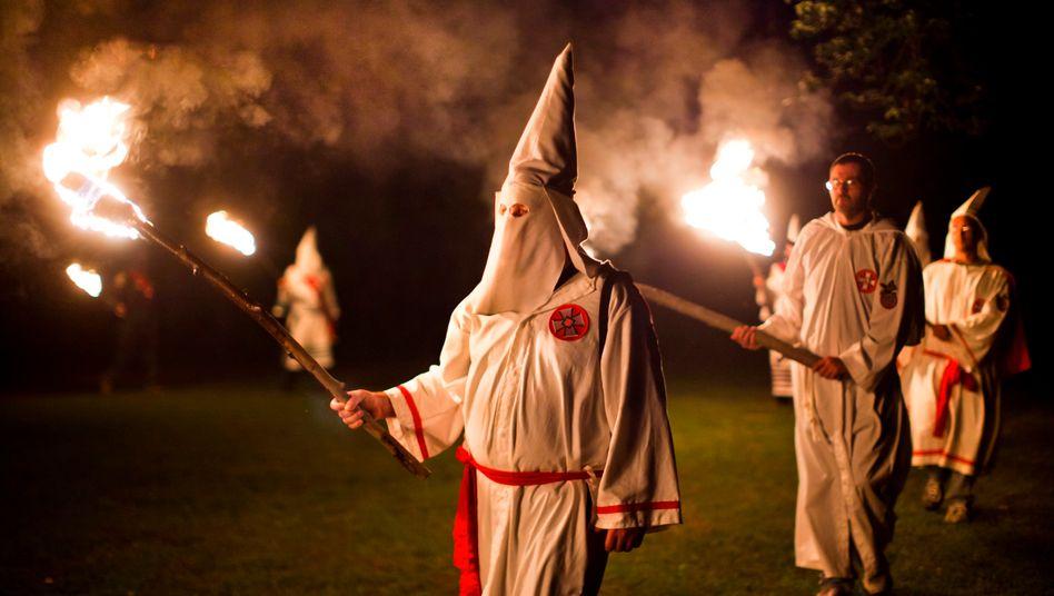 Ku Klux Klan (Archivbild): Der Verband zählt mehrere Tausend Mitglieder