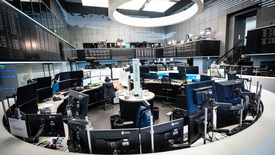 Börsensaal in Frankfurt am Main: Prognosen, die an den Börsen gut ankommen