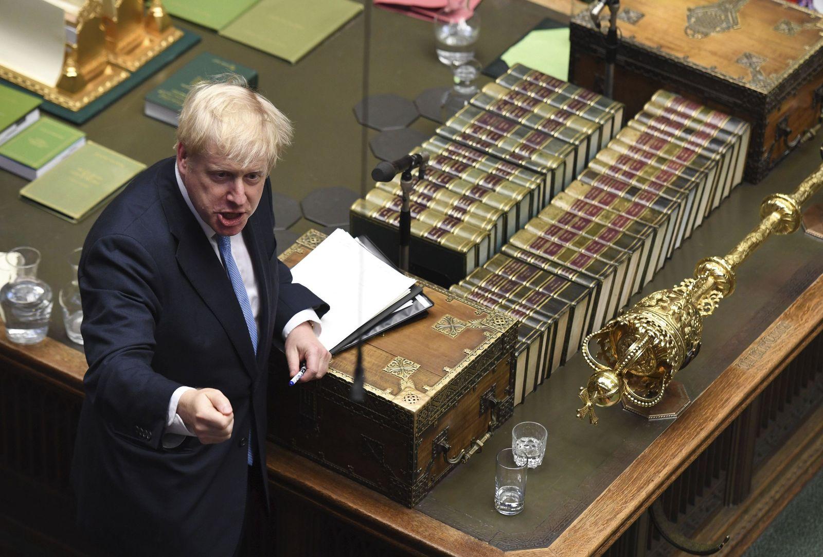 1. Parlamentssitzung des neuen britischen Premierministers