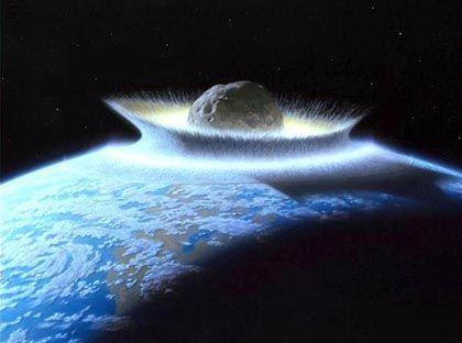 Einschlag im Ur-Ozean (Zeichnung): Gewaltige Energien, große Hitze - Ursprung des Lebens?