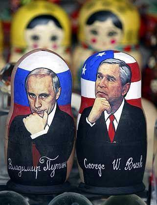 George W. Bush met with Vladimir Putin on Thursday in Bratislava.