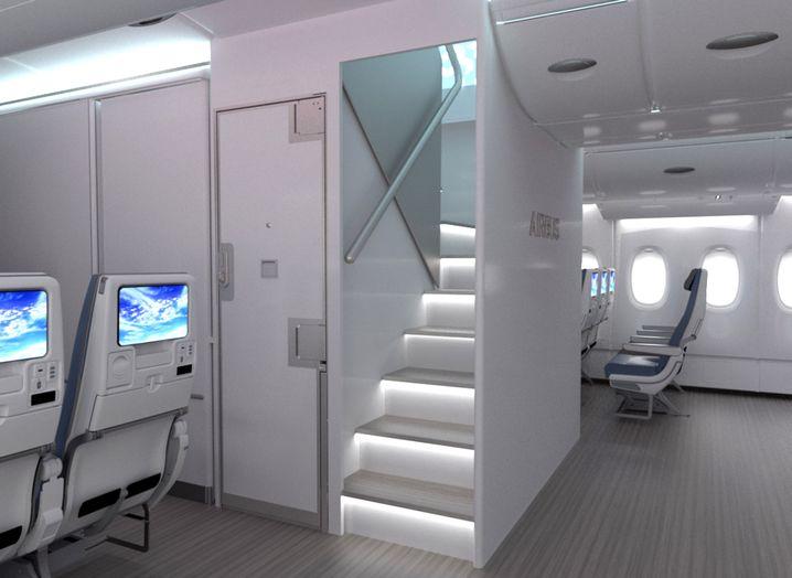 Neue Treppe im A380