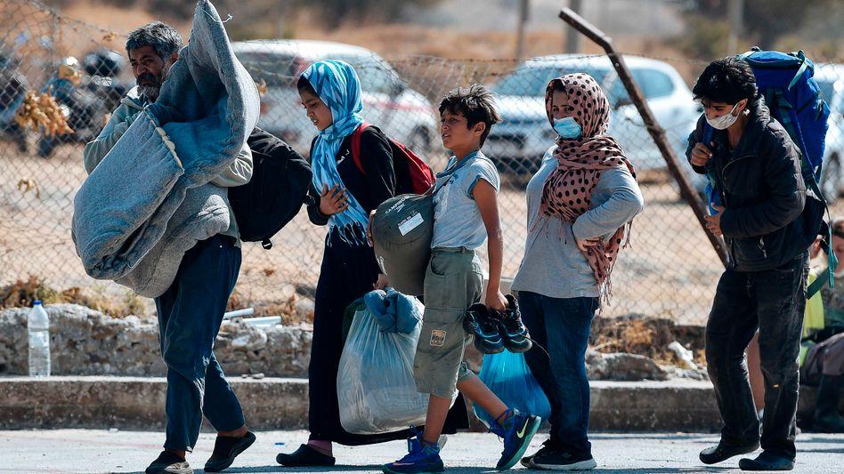 Nach dem Brand in Moria sind noch immer Tausende Flüchtlinge obdachlos