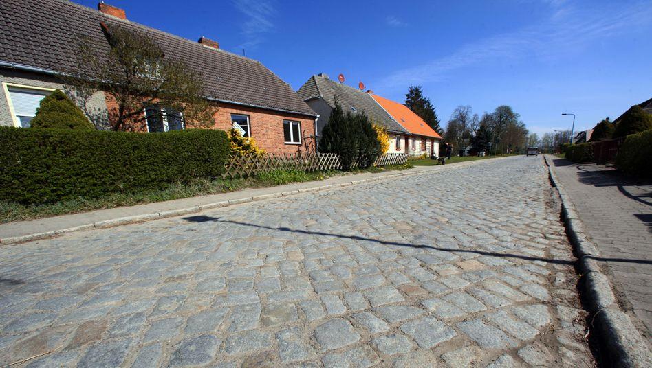 Dorfstraße von Kriesow