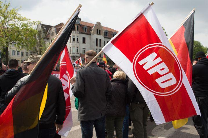 NPD-Kundgebung in Erfurt (im Mai 2015)