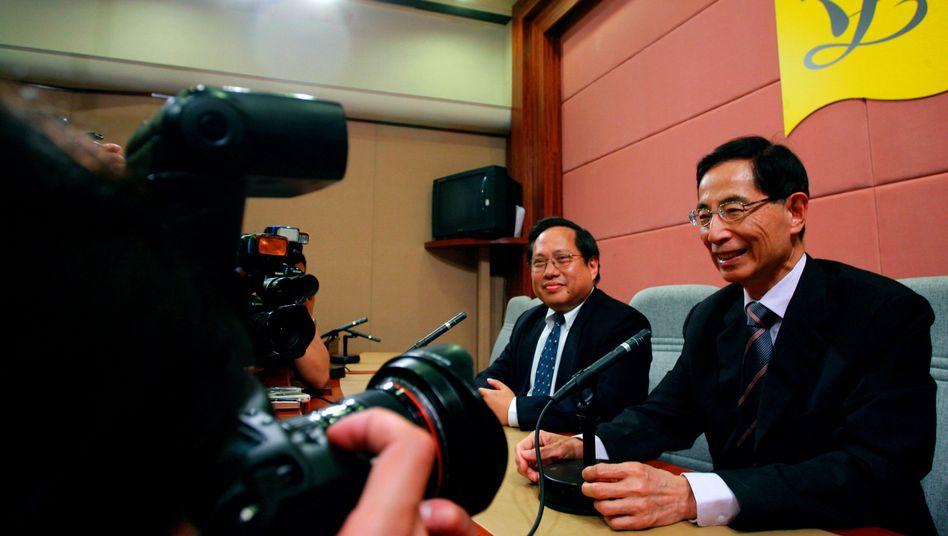 Martin Lee (rechts), Albert Ho