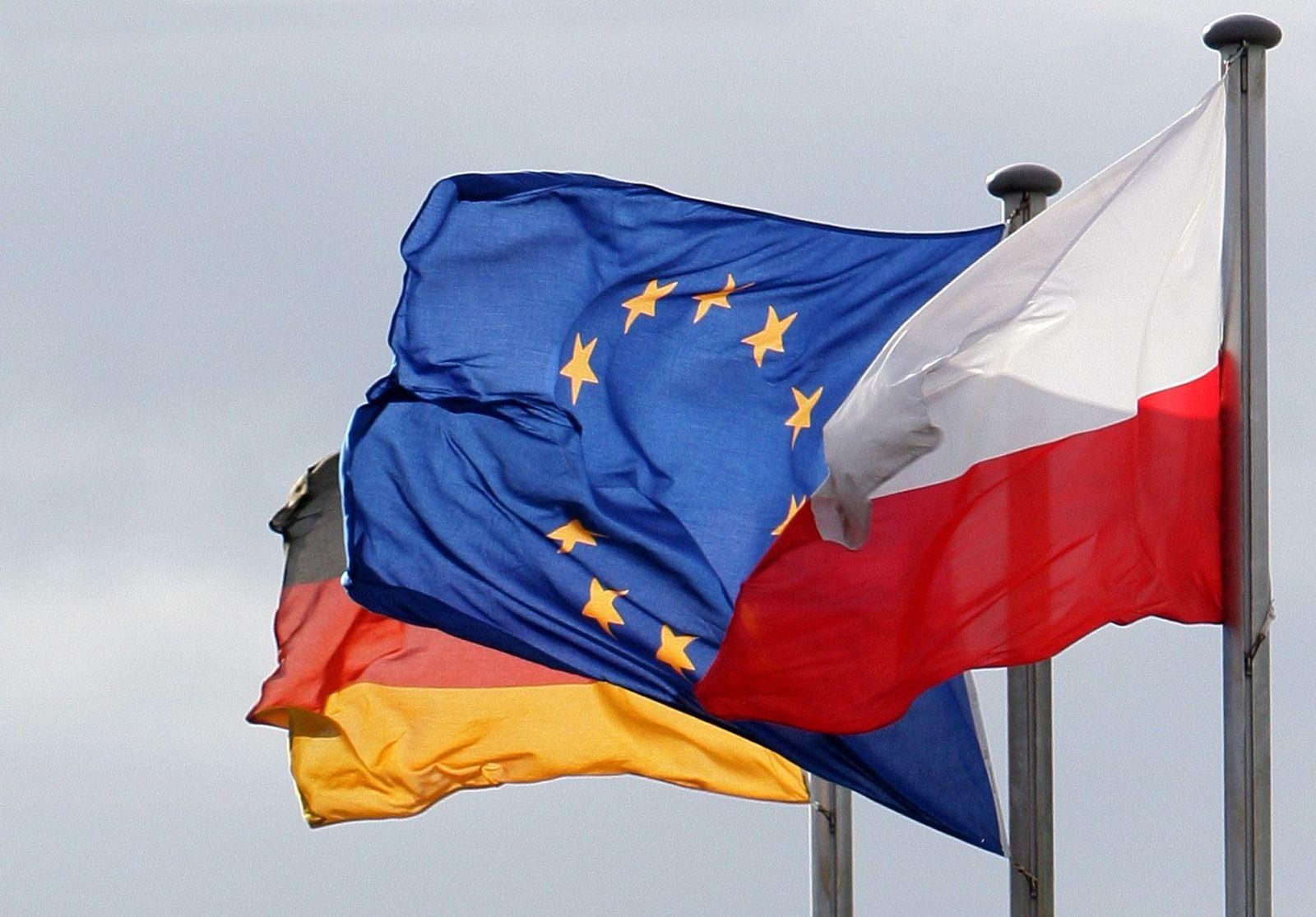 Freizügigkeit Eu Flaggen Polen Europa