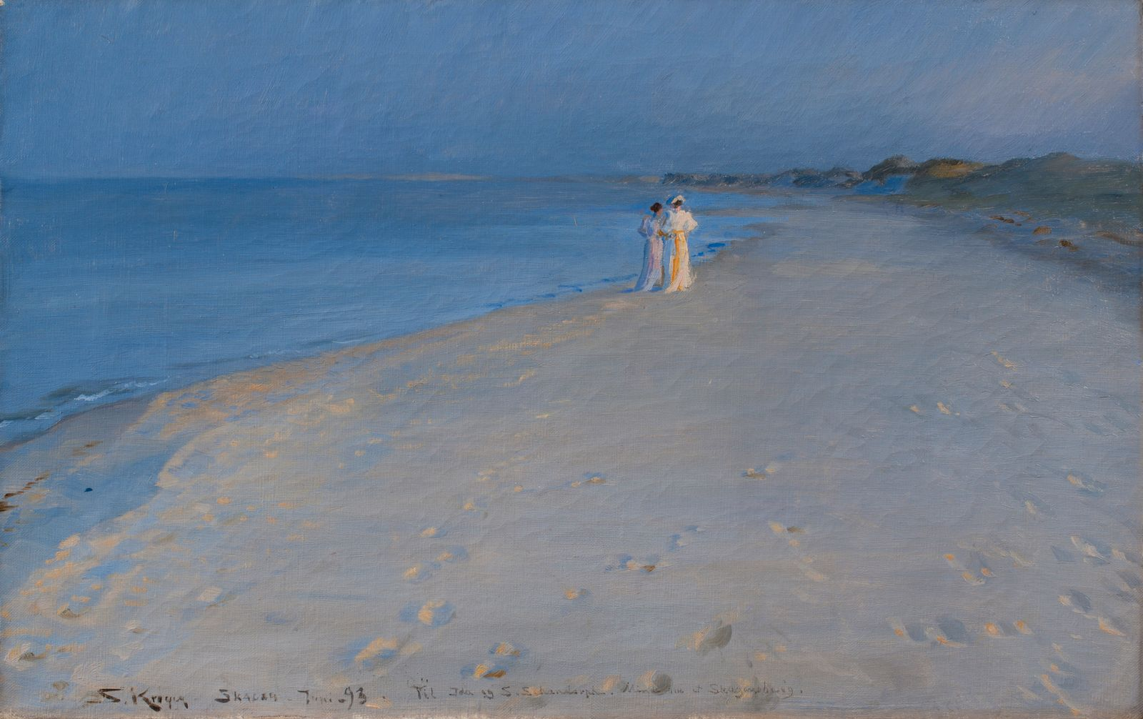 Summer Evening On The South Beach Of Skagen Anna Ancher And Marie Krøyer