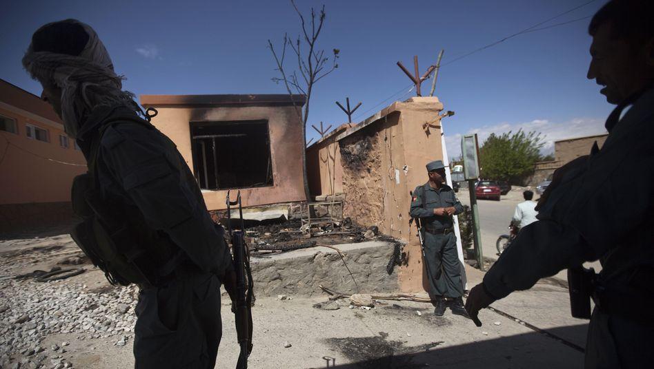 Gouverneurssitz in Parwan (nach früherem Anschlag): Attacke galt Sicherheitskonferenz