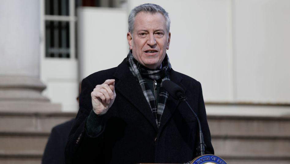 New Yorks Bürgermeister Bill de Blasio: Trump für »unverzeihliche Handlungen« in Washington verantwortlich