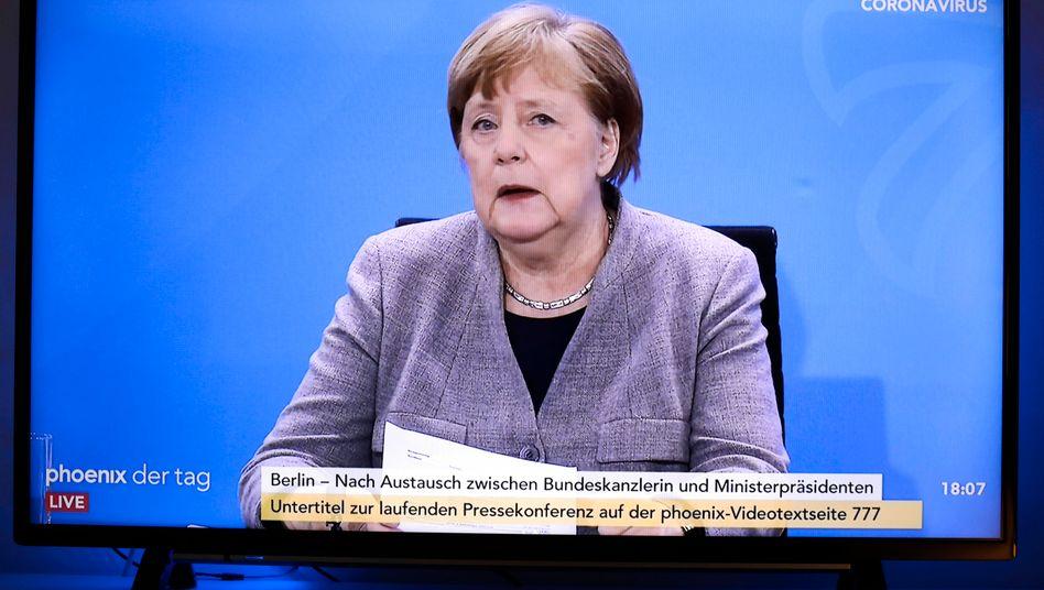 Kanzlerin Angela Merkel erklärt die Corona-Lockerungen