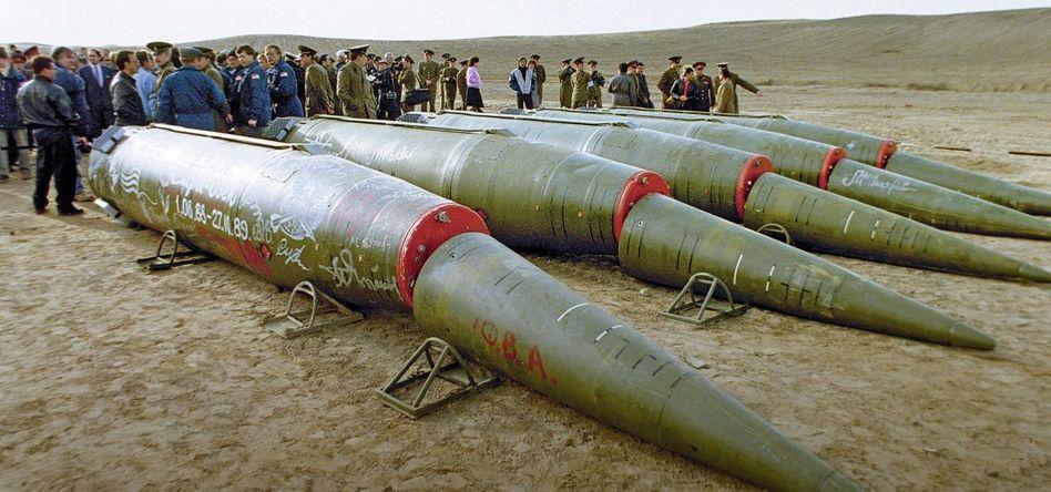 Abgewrackte sowjetische Raketen 1989