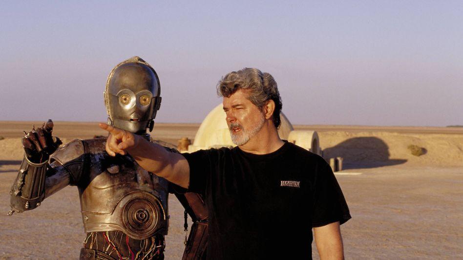 """George Lucas auf dem """"Star Wars""""-Set, 2002: """"Die Filme sind meine Kinder"""""""