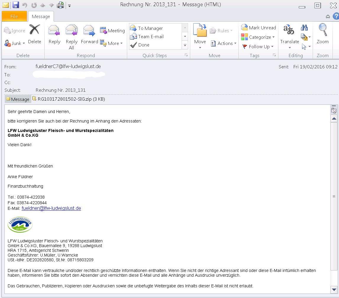 EINMALIGE VERWENDUNG NUR ALS ZITAT Screenshot Locky