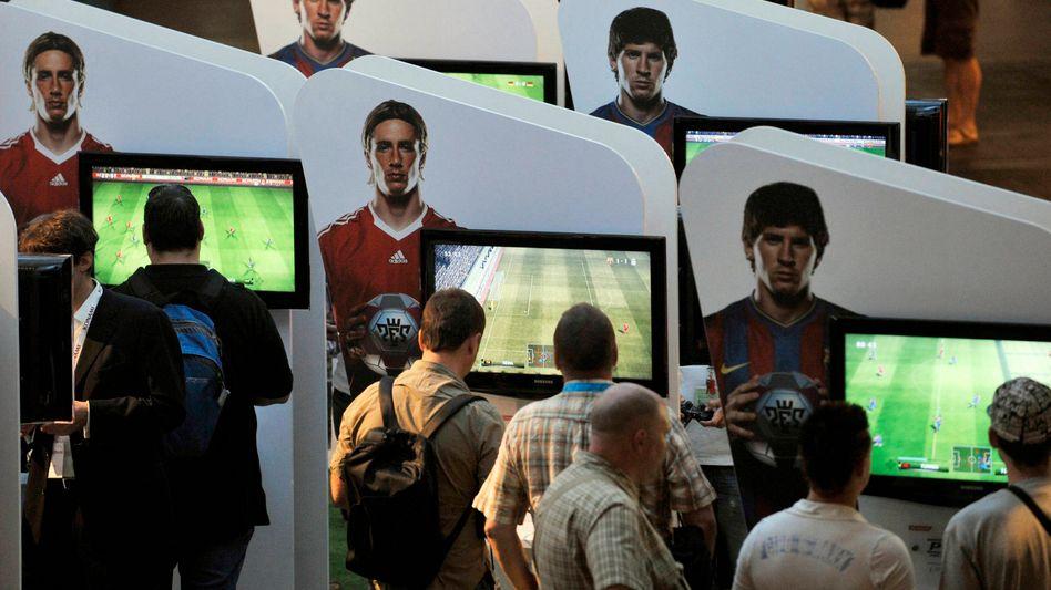 Computerspielmesse (in Köln): Junge Spieler können sich nur schwer trennen