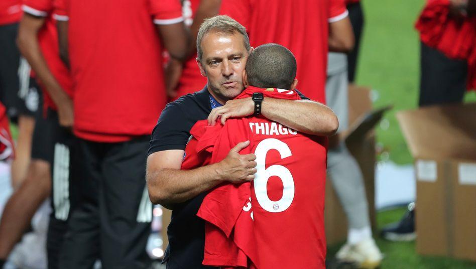 Bayern-Trainer Hans-Dieter Flick nach dem Abpfiff