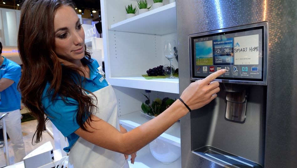 Vernetzter Kühlschrank (Symbolbild): Gekaperte Haushaltsgeräte