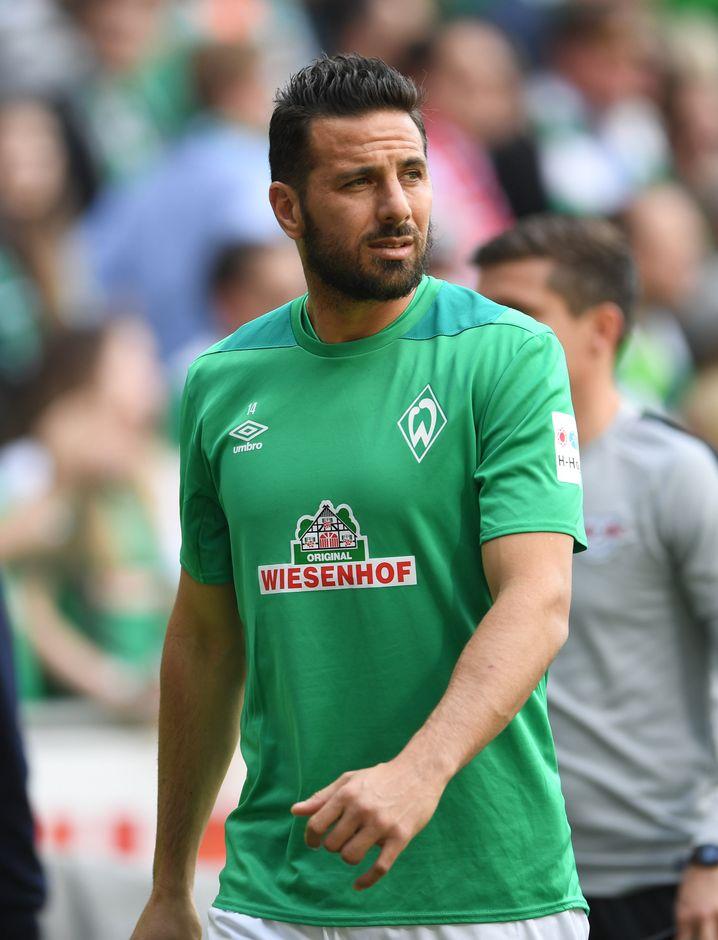 Claudio Pizarro erzielte den letzten Bremer Saisontreffer