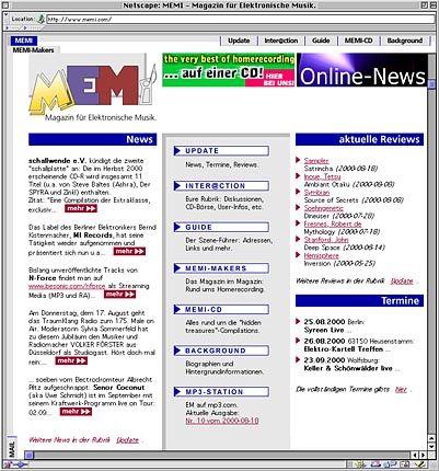 Das Magazin für Eelektronische Musik im Internet