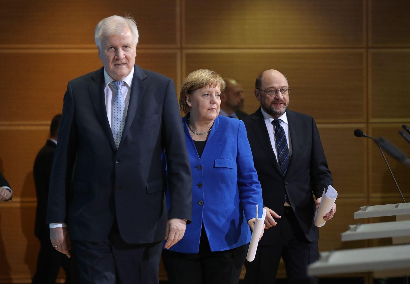 Seehofer/ Merkel/ Schulz