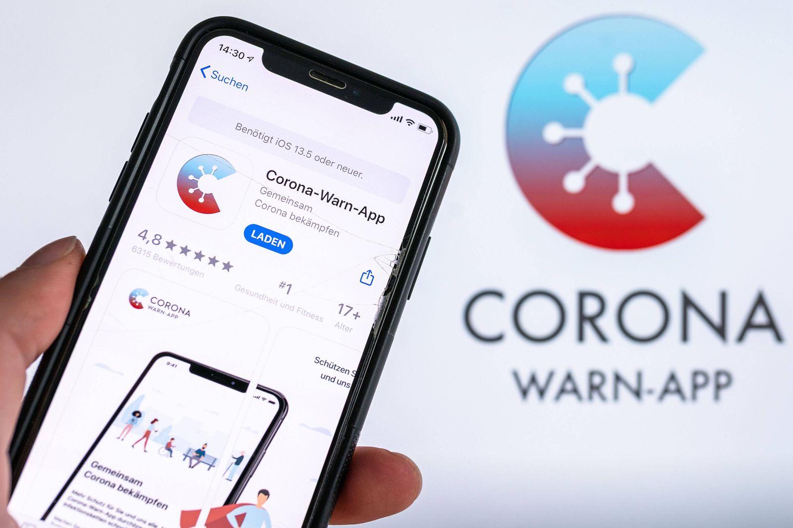 16.06.2020, xfux, Politik Medizin, Corona Warn App in Berlin vorgestellt, emwirt empoli emlahe, v.l. Die Corona Warn App