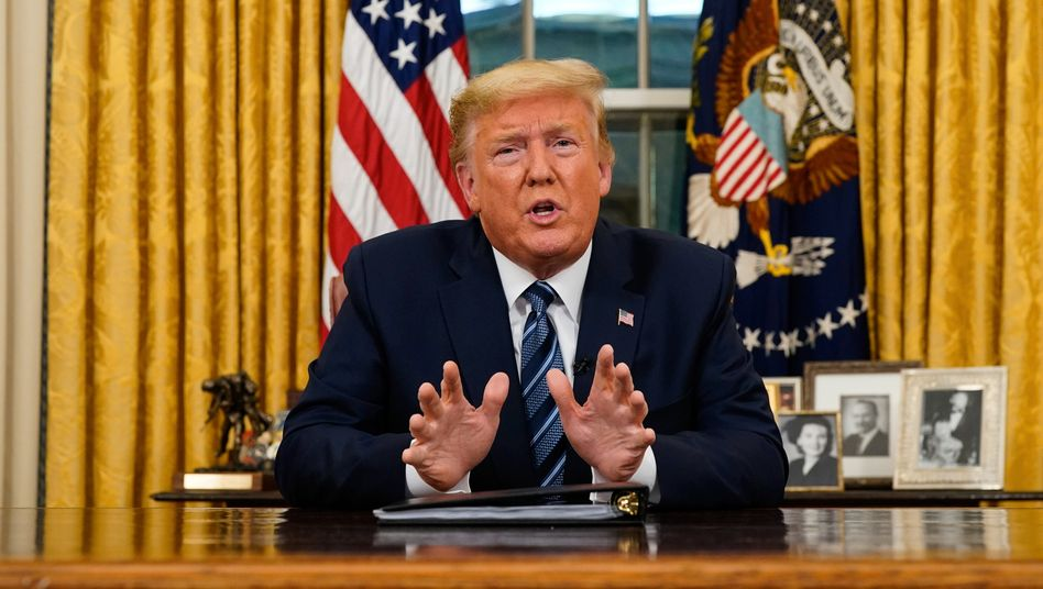"""Donald Trump bei seiner Rede an die Nation: """"Alle Reisen aus Europa aussetzen"""""""